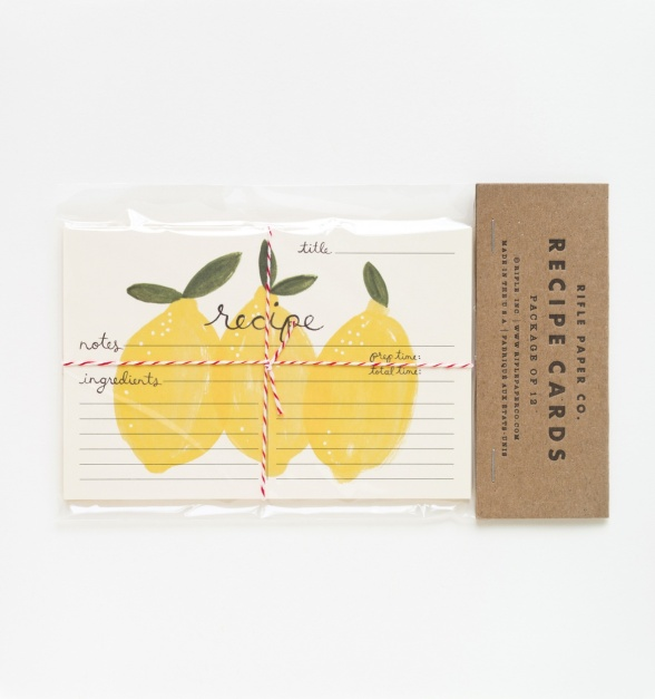 Rifle Paper Co Lemon Recipe Cards