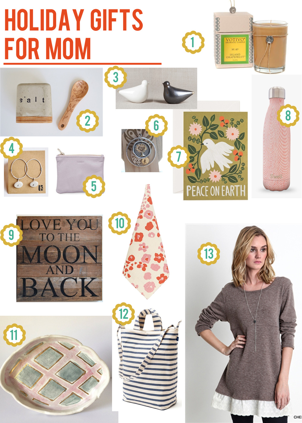 Holiday gift guide for moms Christmas ideas for mothers