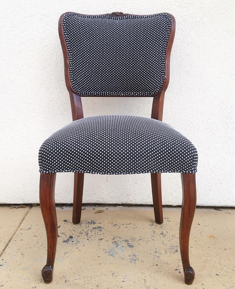 set of four reupholstered chairs at personify shop