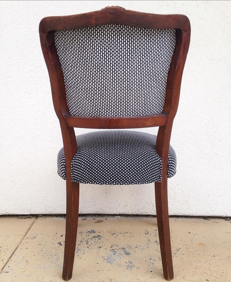 set of four reupholstered chairs at personify shop back