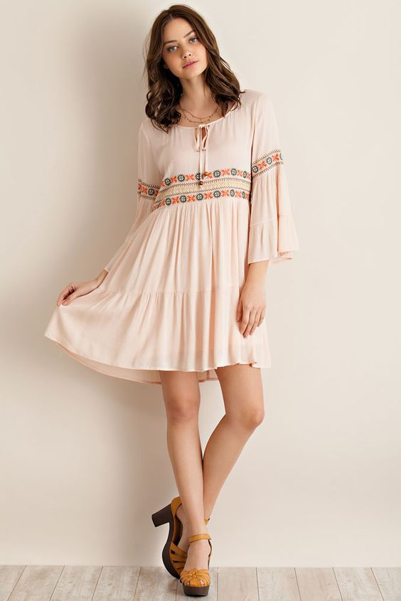 Blush Darling Slouch Dress