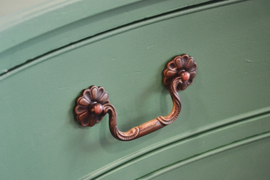 personify shop green dresser flower pulls