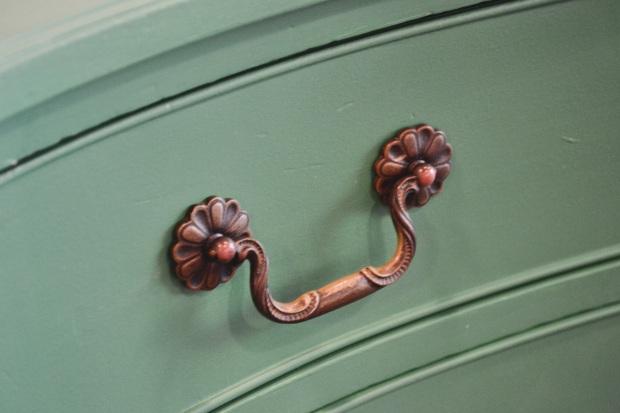 personify shop green dresser flower pulls