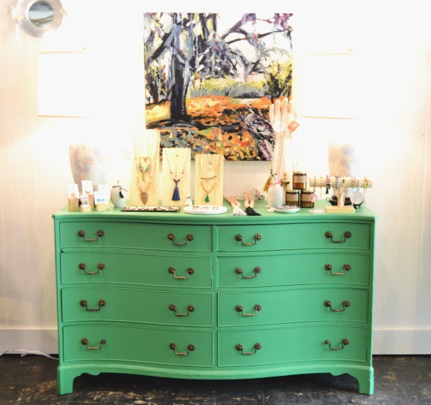 personify shop green dresser