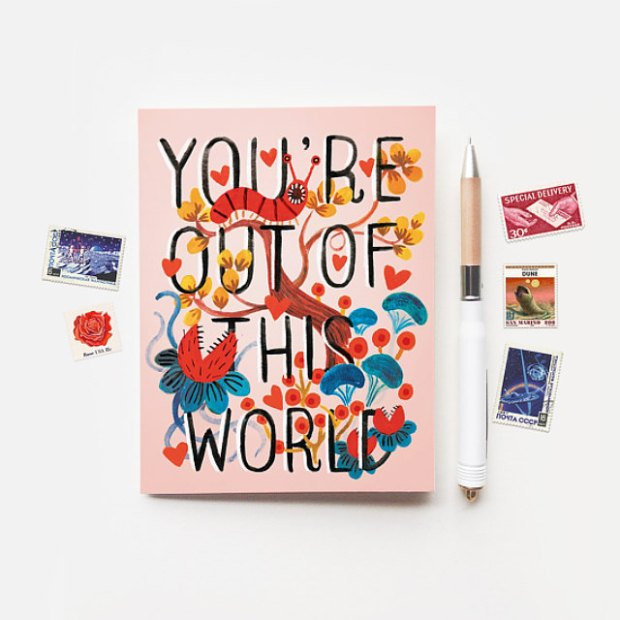 You're out of this world card by Quill and Fox