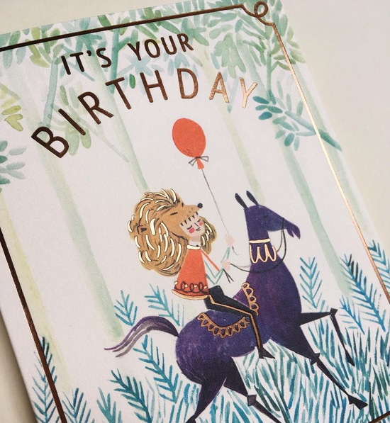 quill-and-fox it's your birthday card